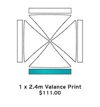 1 x 2.4m Valance