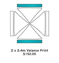 2 x 2.4m Valance