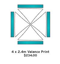 4 x 2.4m Valance