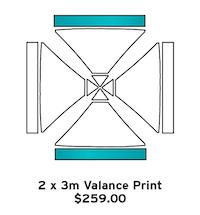 2x3m Valance