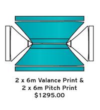 2x6m Valance & 2x6m Pitch