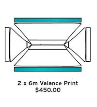 2x6m Valance