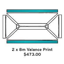 2x8m Valance