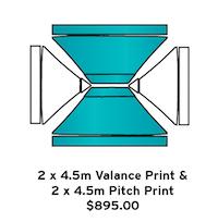 2x4.5m Valance 2x4.5m Pitch