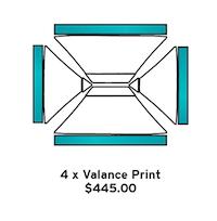 4 x Valance print