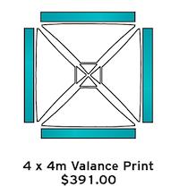 4x4m Valance