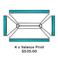 4x6m Valance