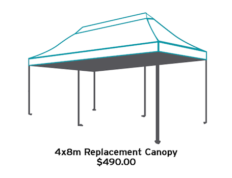 4x8m Replacement Canopy