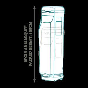 Standard - 160cm Packed