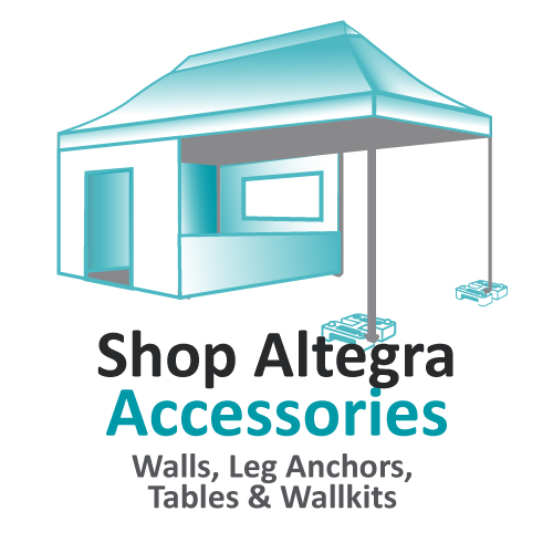 Altegra Australia gazebo and marquee accessories - choose from a range of high quality accessories that best fit your gazebo for your specific use.