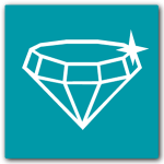 Altegra Quality icon - sparkly diamond