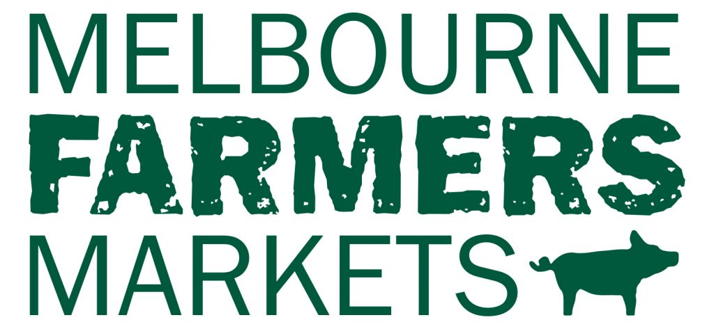 Melbourne Farmer's Market logo. A loyal Altegra Australia custom branded canopy customer to make their heavy-duty marquees stand out and remain safe and reliable in any weather condition!