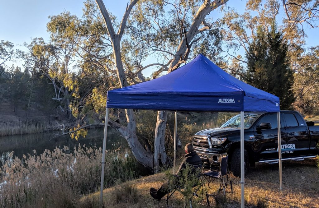 Altegra Heavy Duty gazebo 3x3, in the great outdoors! Australian gazebo manufacturer.
