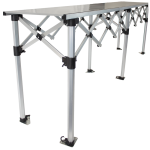 Altegra heavy duty folding aluminium table - 2.8m x .53m compact packable table image. Heavy weight loading and extremely convenient.
