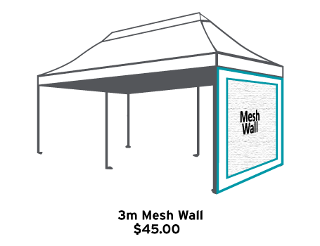 Altegra 3m Mesh Wall fitting for the 3x6m marquee - mesh wall accessory icon.