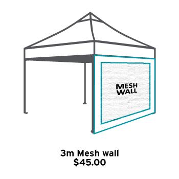 Altegra 3m Gazebo Mesh Wall icon - full mosquito mesh wall for a 3x3m gazebo.