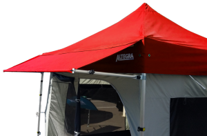 Altegra Awning in red photo - add more shade to your gazebo canopy with the Altegra awning extension