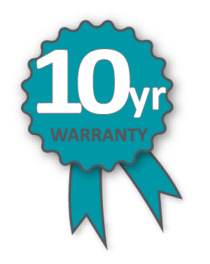 Altegra 10-year heavy-duty marquee warranty icon. Dependable frames, dependable warranties. We back our products for your confidence.