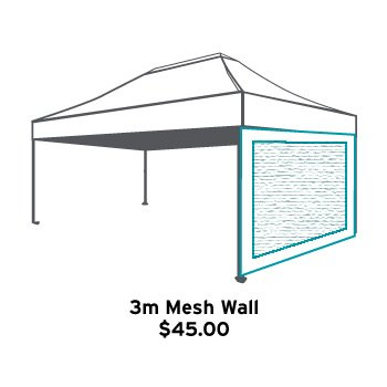 Altegra 3m mesh wall icon - mosquito and bug mesh wall for 3x4.5m Altegra gazebos. Gazebo accessories.