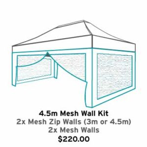 Altegra 3x4.5m gazebo mesh wall kit icon - mosquito and bug mesh walls for 3x4.5m Altegra gazebos. Gazebo accessories.