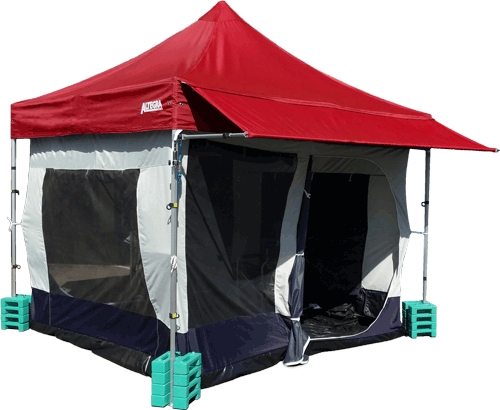 Altegra Gazebo & Marquee Accessories image - Marquee Leg Weights, Gazebo Awning kits, full internal shade tents, and other accessories.