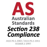 Australian Standards Section 238 compliant product icon - Altegra Heavy Duty marquees and Pro Lite gazebos are structurally engineered for event marquee safety.