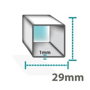 Altegra Premium Steel gazebo frame icon - 29mm square, 1mm sidewall