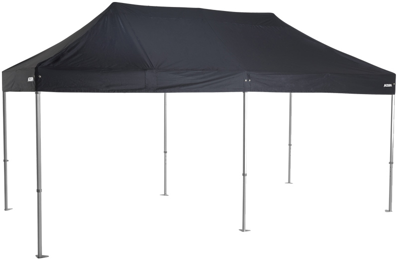 Altegra 3x6m Heavy Duty Folding Marquee with black UPF50+ canopy - built to deliver dependability and safety for outdoor events in Australia. Australian Standards and Section 238 compliance for public safety.