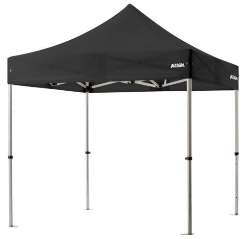 Altegra 3x3m lightweight aluminium gazebo with black canopy image - Our Pro Lite 40mm hexagonal aluminium frame is the advanced lightweight Australian gazebo.