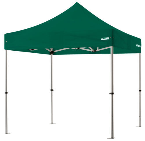Altegra 3x3m lightweight aluminium gazebo with green canopy image - Our Pro Lite 40mm hexagonal aluminium frame is the advanced lightweight Australian gazebo.