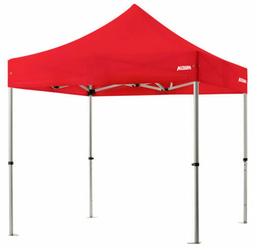 Altegra 3x3m lightweight aluminium gazebo with red canopy image - Our Pro Lite 40mm hexagonal aluminium frame is the advanced lightweight Australian gazebo.