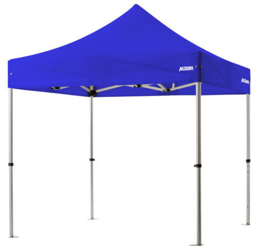 Altegra 3x3m lightweight aluminium gazebo with royal blue canopy image - Our Pro Lite 40mm hexagonal aluminium frame is the advanced lightweight Australian gazebo.