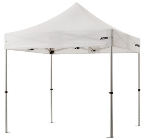 Altegra 3x3m lightweight aluminium gazebo with white canopy image - Our Pro Lite 40mm hexagonal aluminium frame is the advanced lightweight Australian gazebo.