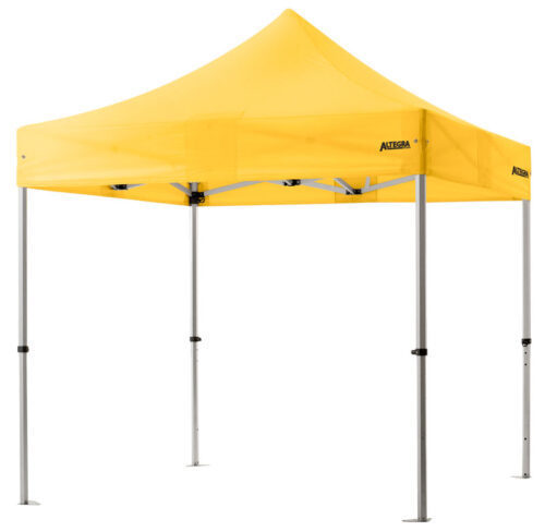Altegra 3x3m lightweight aluminium gazebo with yellow canopy image - Our Pro Lite 40mm hexagonal aluminium frame is the advanced lightweight Australian gazebo.
