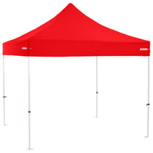 Altegra Premium Steel 3x3m gazebo tent - the affordable 3x3m easy up tent with premium features that protect your family. Red UPF50+ canopy.