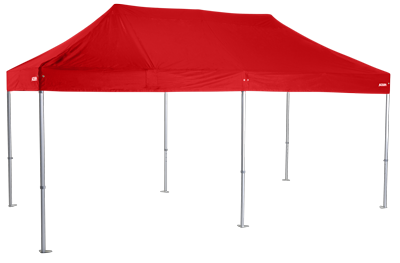 Altegra Heavy Duty 3x6m Marquee with red canopy - the folding event marquee for events professionals.