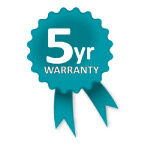 Altegra 5 year warranty icon - a 5 year genuine manufacturer's warranty for all Pro Lite aluminium gazebos and marquees.