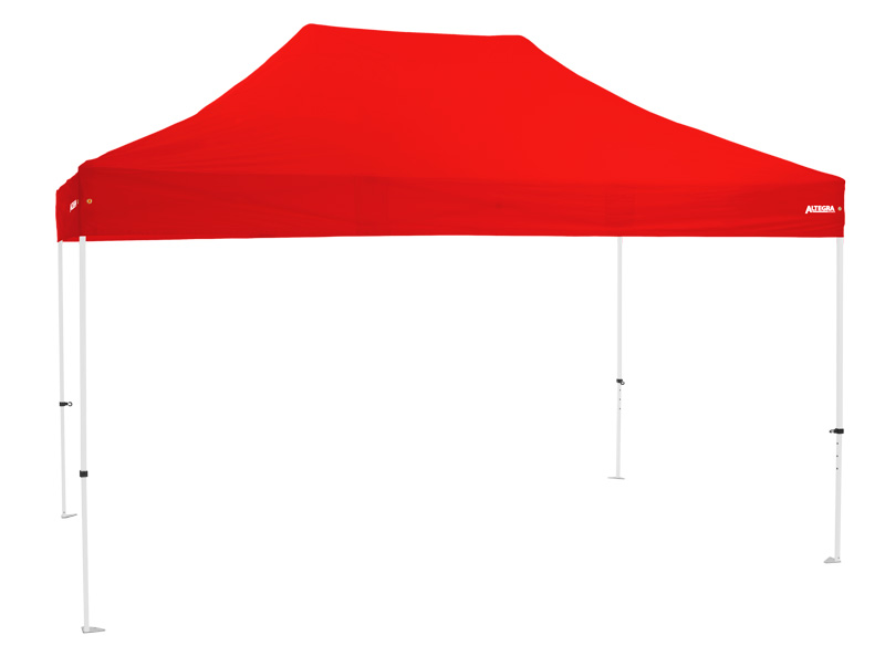 Altegra Premium Steel 3x4.5m pop up gazebo with premium UPF50+ canopy - affordable quality 3x4.5m gazebos - red