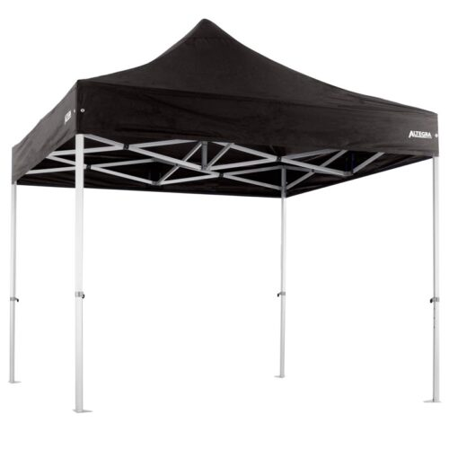 Altegra Heavy Duty 3x3m gazebo with black UPF50+ canopy