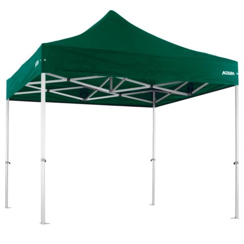 Altegra Heavy Duty 3x3m gazebo with green UPF50+ canopy