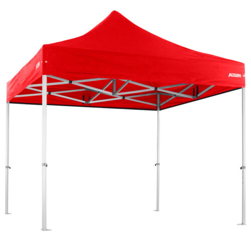 Altegra Heavy Duty 3x3m gazebo with red UPF50+ canopy