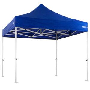 Altegra Heavy Duty 3x3m gazebo with royal blue UPF50+ canopy