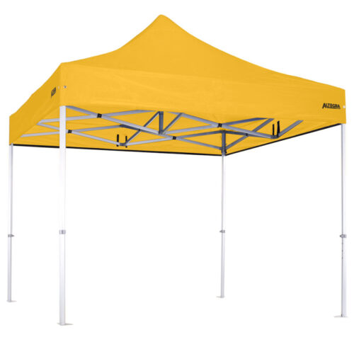 Altegra Heavy Duty 3x3m gazebo with yellow UPF50+ canopy