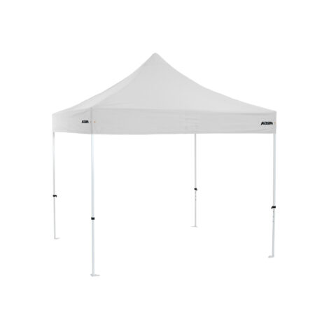 Altegra Premium Steel 3x3m gazebo tent with white UPF50+ canopy - the affordable 3x3m easy up tent with premium features that protect your family.