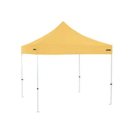 Altegra Premium Steel 3x3m gazebo tent with yellow UPF50+ canopy - the affordable 3x3m easy up tent with premium features that protect your family.