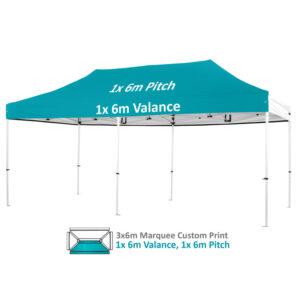 Altegra Pro Lite 3x6m Marquee Custom Printed canopy image - 1x 6m valance, 1x6m Pitch printing