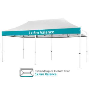 Altegra Pro Lite 3x6m Marquee Custom Printed canopy image - 1x 6m valance option
