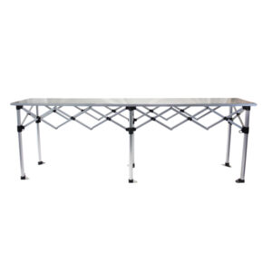 Altegra Aluminium 3m Folding Table - the packable, hugely robust and extremely versatile folding table by Altegra in our 3m foldable table size. Heatproof, easy to clean, packs smaller than the rest, and looks great.