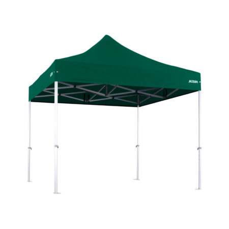 Altegra 3x3m Heavy Duty gazebo with Green UPF50+ canopy - Australia's iconic premium pop up tent for events - 50mm (58mm diag.) hexagonal aluminium legs locked together with aluminium joints.