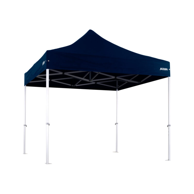 Altegra 3x3m Heavy Duty gazebo with Navy Blue UPF50+ canopy - Australia's iconic premium pop up tent for events - 50mm (58mm diag.) hexagonal aluminium legs locked together with aluminium joints.